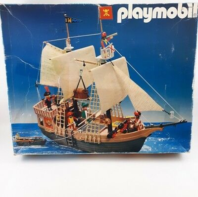 Playmobil 3550 Pirate Ship 1984 Incomplete