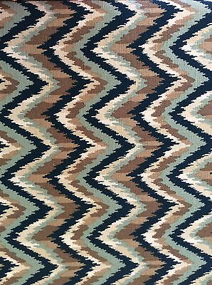 """AHMAR"" NATE BERKUS MCM DESIGN. by Millcreek Fabric 100% Cotton  4 Yds x 54"" NEW"