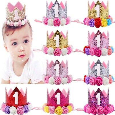 Birthday Decor Flower Crown Hairband Princess Party Hat Baby Hair Accessories