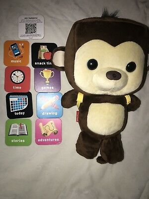 Fisher Price Square Head Bear Plush Toy Smart Cards