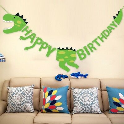 Dinosaur Party Banners Baby Shower Birthday Party Decors Pennant Kids Party S P8