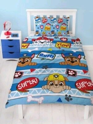Paw Patrol Peek Rescue Kids  Single Double Duvet Set new 2018 Gift