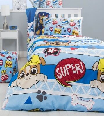 Paw Patrol Peek Boys Reversible Single Duvet Set NEW 2018