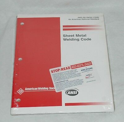 Sheet Metal Welding Code AWS D9.1M/D9.1:2006 New
