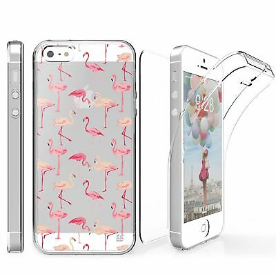 For iPhone SE/5S Full Coverage 360 Protector Case Flamingo