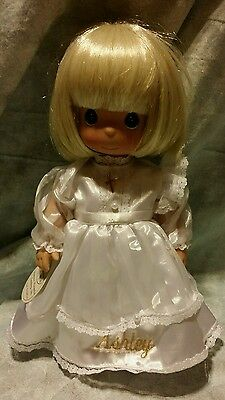 """Precious Moments 12"""" Vinyl Doll 1490N Communion ,Personalize """"Ashely"""",MISSING"""
