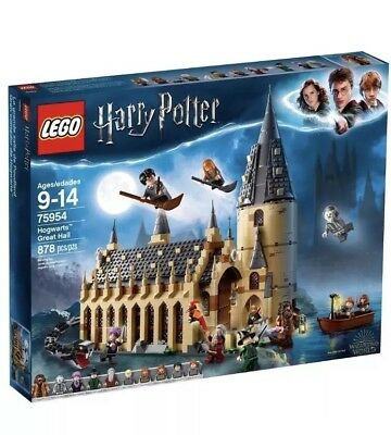 LEGO Harry Potter 75954 Wizarding World Hogwarts Great Hall New 2018 878 pieces
