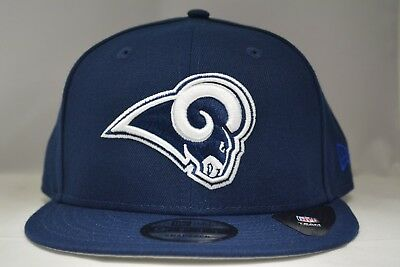 hot sale online 2c050 b5cbf Los Angeles Rams 9Fifty Snapback Authentic New Era Hat Cap NFL in Blue