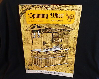 * Spinning Wheel Magazine June 1968 Antiques & Early Crafts *