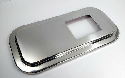 Peterbilt Stainless Shift Plate Floor Cover 4-7/8 x 5-3/4 Short Hood Shifter