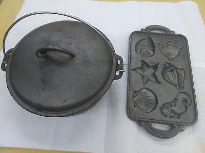 Castor Iron Dutch Oven and Cornbread muffin pan