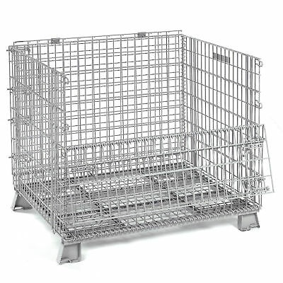 40x32x34-1/2 Folding Wire Container, 4000 Lb Capacity, Lot of 1