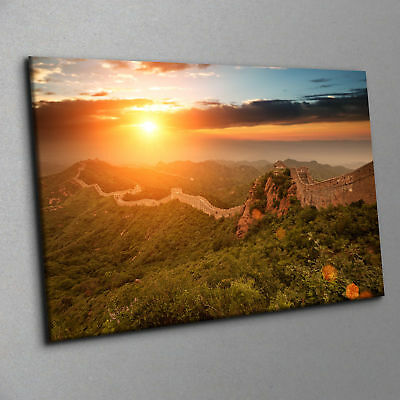"""The Great Wall of China with Sunset Canvas Print Wall Art Contemporary 20 x 30"""""""