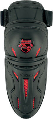 Icon Mens Black/Red Field Armor Stryker Motorcycle Elbow Guard