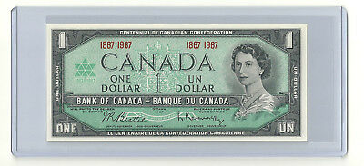 1967 Canada One Dollar $1 Bill Crisp Clean Uncirculated with Collector Packaging