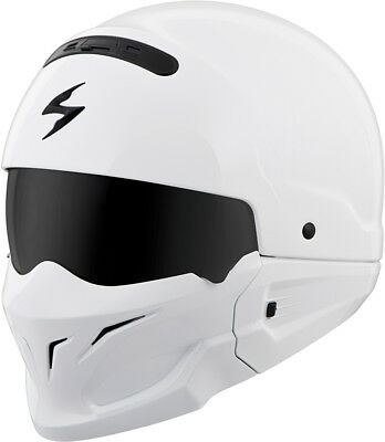 Scorpion Adult White Covert Solid 3/4 Open Face Motorcycle Helmet DOT