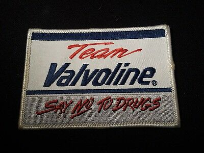 Team Valvoline: Say NO to Drugs Embroidery Patch New