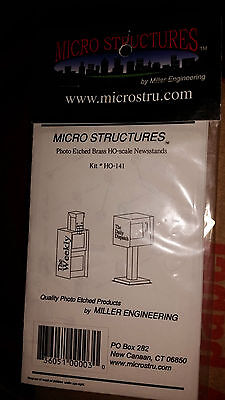 HO 1/87 Micro Structures Newspaper Stands  # 141 NIP Photo Etched Brass
