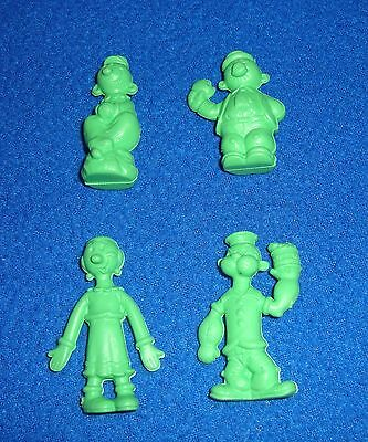 Lot of 4 Popeye /& Olive Oyl Soft Erasers New Old Stock