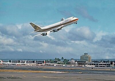 "Continental Airlines Boeing 747 ((8.5""x11"")) Print"