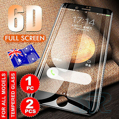 6D Full Cover iPhone XS X 8 7 6 Plus Screen Protector Tempered Glass for Apple