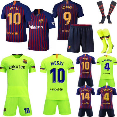 18-19 Football Shirt Jersey Official Soccer Kid Boys & Adult Suit Club Kit Socks