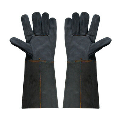 1 Pair Heavy Duty Dark Welding Gloves Gauntlets Welders Cowhide Leather Gloves
