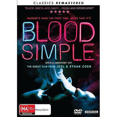 Blood Simple Dvd, New & Sealed, 2018 Release, Region 4. Free Post