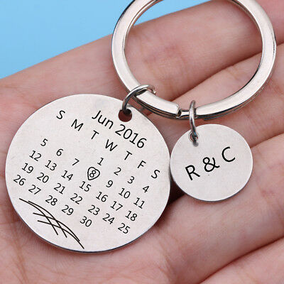 Personalized Calendar Keychain Special Day Anniversary, Wedding, Brithday Charm