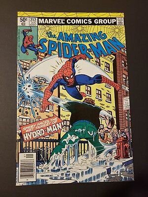 Amazing Spider-Man # 212 - 1st Appearance Of Hydro Man - VF to VF+