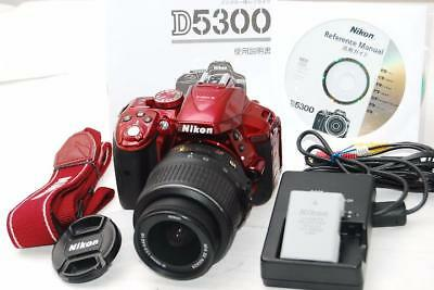 NIKON D5300 with Red 18-55mm VR image stabilization function lens japan (3833