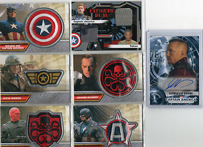 Marvels Captain America - Autograph & Costume Relic Card Selection NM Upper Deck