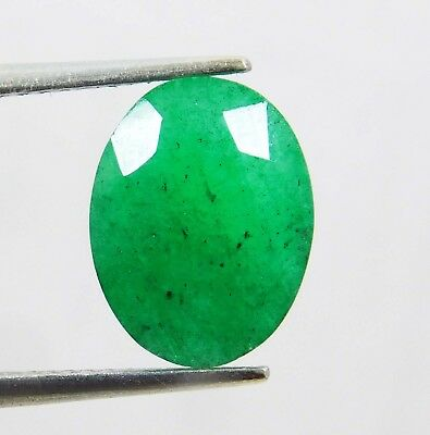 Natural 4.70 Ct Certified Oval Cut Colombian Loose Emerald Gemstone. 11090 qw