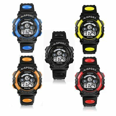 Kids Children Boys Girls Watches Digital Led Hour Alarm Date Sport Wrist Watches