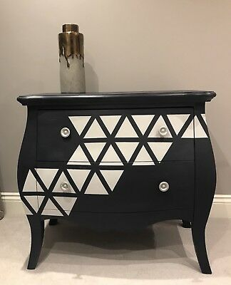 Upcycled Bow Fronted Chest Of Drawers Autentico