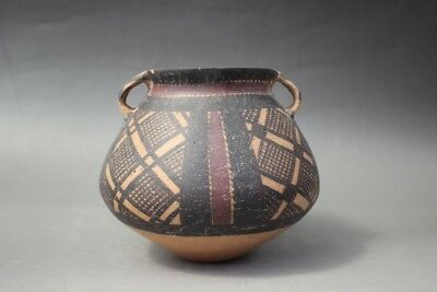 Ancient Old Majiayao culture Painted pottery tank pot