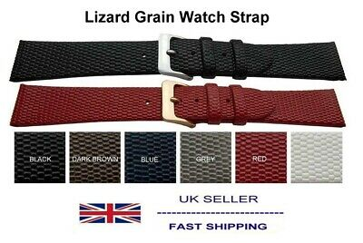Gents Ladies Watch Strap Italian Lizard Grain Calf Leather 8mm-22mm