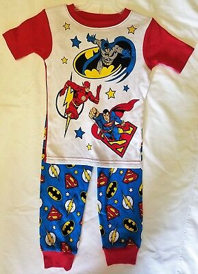 Justice League Boys Toddlers Pajamas 2T 3T 4T 5T Choose Size New Without Tags