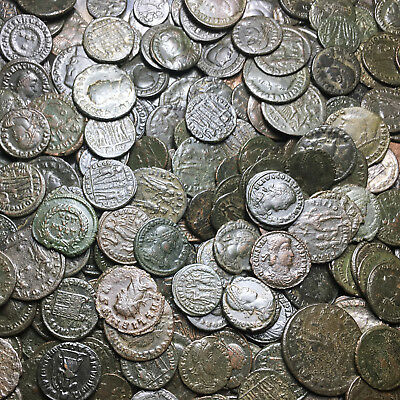 Premium Lot Of 15 Roman Bronze Coins Follis & Antoninianus