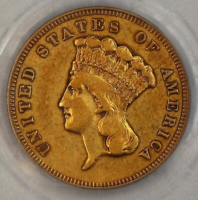 Pop 2 1886 $3 XF40 PCGS Toned Color Three Dollars. Low Mintage.