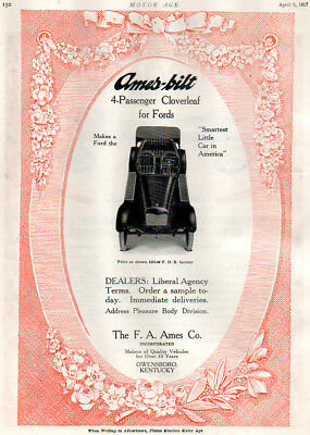 Ford Custom Cloverleaf Body Advertisement, 1917.  Ford Model T?