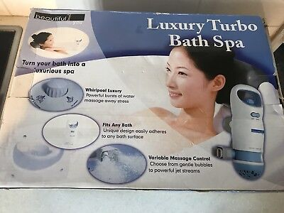 Pampering Luxury Bath Spa,easy Fit To Any Bath Side,water Jet With Bubbles,new