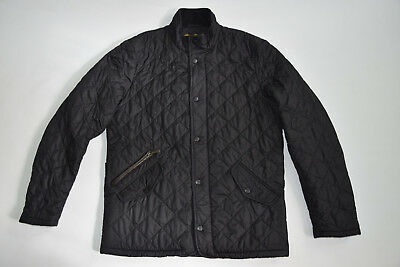 BARBOUR Fitted CHELSEA SPORTSQUILT Quilted BLACK Jacket size S