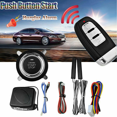 Start Push Button Remote Starter Keyless Entry 9pcs Car SUV Alarm System Engine