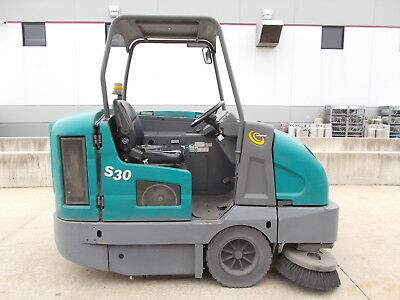 2013 Tennant S30 Ride On Rider Sit Down Sweeper Lp Gas
