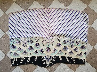 Antique Chinese Embroidered Art Deco Opera Robe Fabric Vintage textile Pillow
