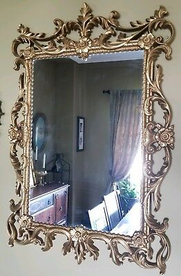 Vintage Gold Turner Ornate Molded Plastic Resin Traditional Wall Mirror