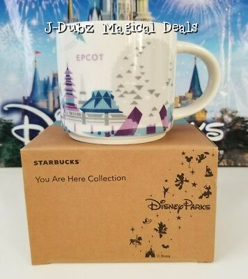 NIB Disney Parks Starbucks Epcot You are here Coffee Mug Cup RETIRED