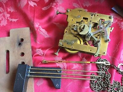 Weight Driven Wall Clock Movement Polos For Spares Or Repair