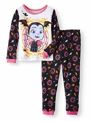 Toddler Girls Vampirina Halloween costume Glow Dark Pajamas 2T 3T 4T 5T Disney
